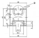 Profil Solar Aluminiu 40x40 PTW 006 - 0,82 kg/ml - 3100 mm/bara